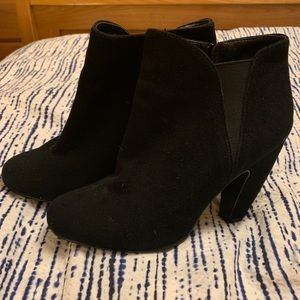 Steve Madden suede ankle bootie